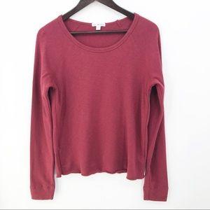 💛 Standard James Perse Knit Top Sweatshirt Red